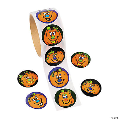 Jack-O'-Lantern Roll of Stickers