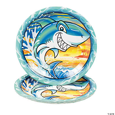 Jawsome Shark Dinner Plates