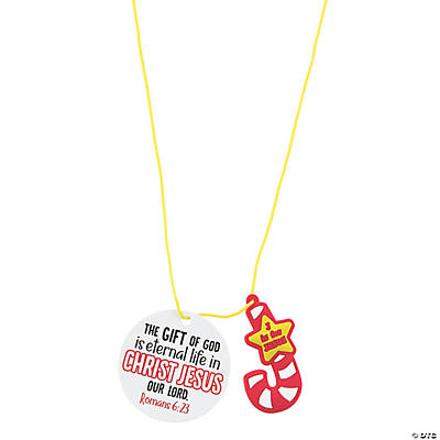 Jesus Candy Cane Necklaces with Card