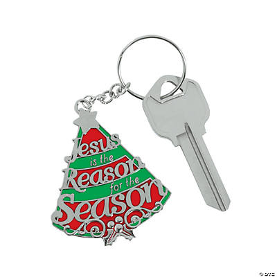 """Jesus Is the Reason"" Adult's Key Chains"