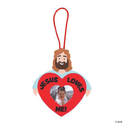 Jesus loves me photo frame ornament craft kit for Photo frame ornament craft