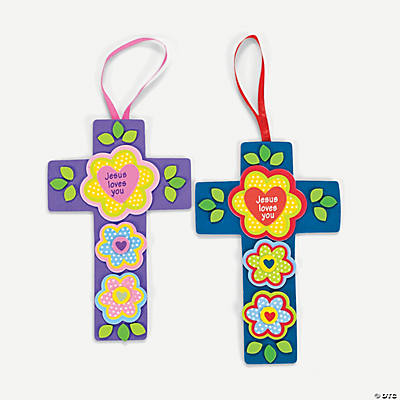 """Jesus Loves You"" Flower & Cross Craft Kit"