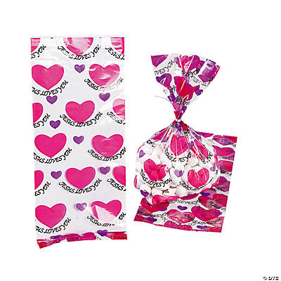 """Jesus Loves You"" Heart Goody Bags"