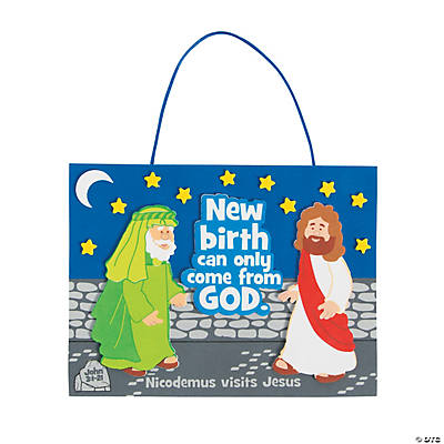 Jesus Meets Nicodemus Sign Craft Kit