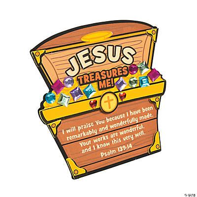 Jesus Treasures Me Stand Up Craft Kit A2 13733195 on Foam Animals Craft 2