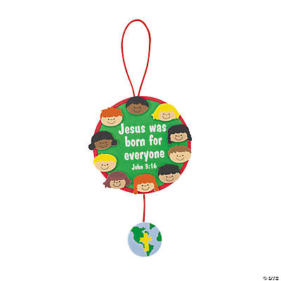 Jesus Was Born For Everyone Ornament Craft Kit
