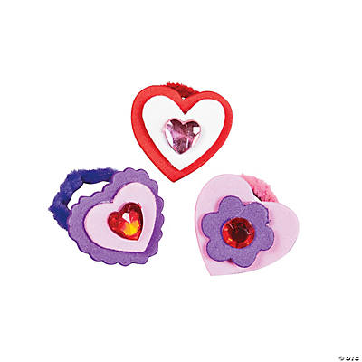 Jewel Heart Rings Craft Kit