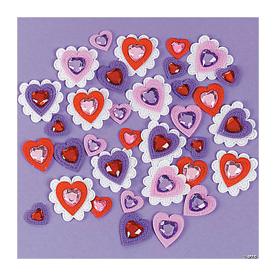 Jewel Heart Stickers