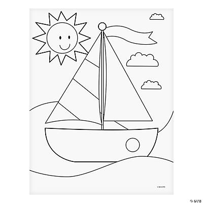mosaic templates for kids - jeweled boat mosaic template idea