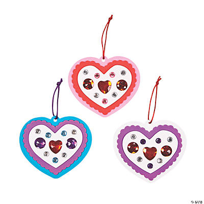 Jeweled Heart Ornament Craft Kit