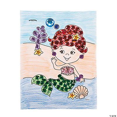 jeweled mermaid template idea