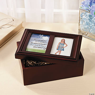 Jewelry Box with Picture Frame Lid