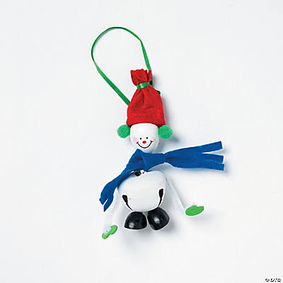 Jingle Bell & Snowman Christmas Ornament Craft Kit