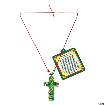 Jingle Bell Cross Necklace Craft Kit