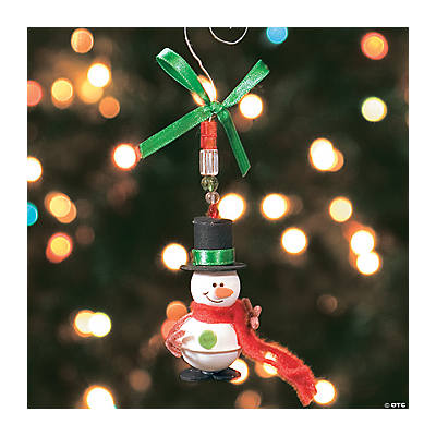 Jingle Bell Snowman Icicle Ornament Craft Kit