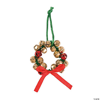 Jingle bell wreath christmas ornaments craft kit for Jingle bell christmas ornament crafts
