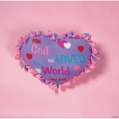 """John 3:16"" Tied Pillow Craft Kit"