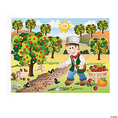 Johnny Appleseed Sticker Scenes