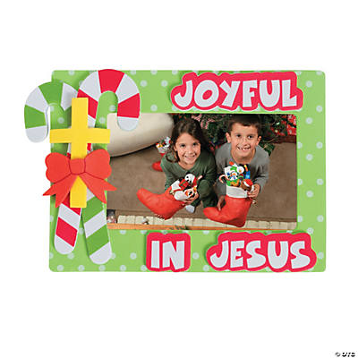 """Joyful in Jesus"" Picture Frame Magnet Craft Kit"