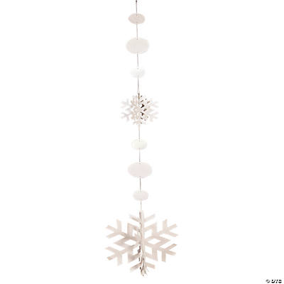 Jumbo Snowflake Hanging Decorations