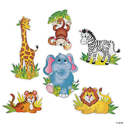 Safari Animal Cutouts Jumbo Zoo Animal Cutouts