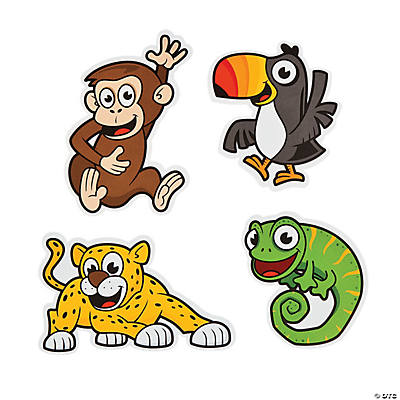 Jungle Animals Bulletin Board Cutouts