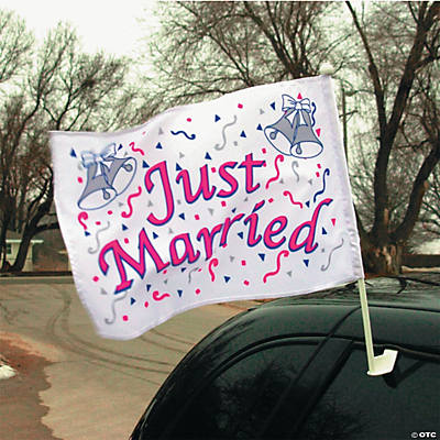 """Just Married"" Car Flag"