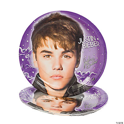 """Justin Bieber"" Party Plates"