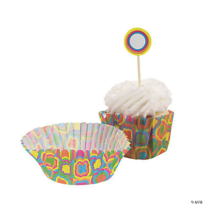 Kaleidoscope Baking Cups with Picks