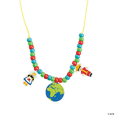 Kids Around the World Necklace Craft Kit
