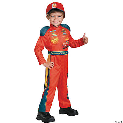 Kid's Classic Cars 3 Lightening McQueen Costume - Small