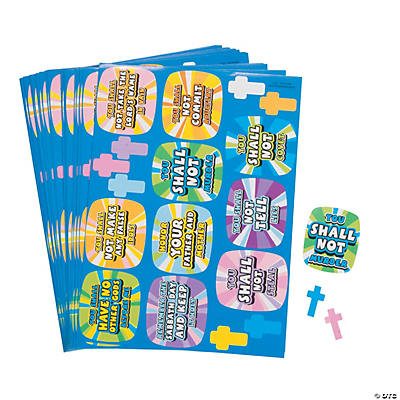 Kids' 10 Commandments Sticker Sheets