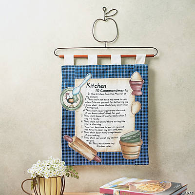 """Kitchen 10 Commandments"" Wall Hanging"