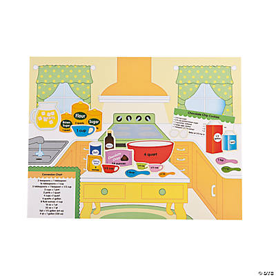12 Kitchen Measurements Sticker Scenes