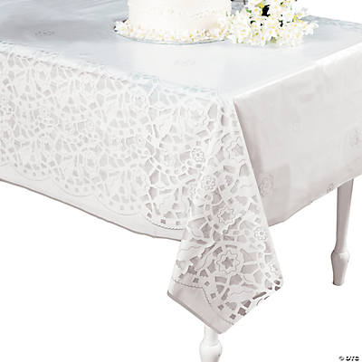 Lace-Printed Wedding Tablecloth