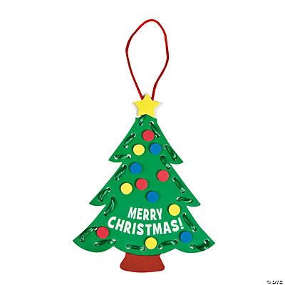 Lacing Christmas Tree Ornament Craft Kit