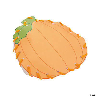 Lacing Stuffed Pumpkin Craft Kit