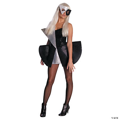 Lady Gaga Black Sequin Dress Standard Adult Women's Costume