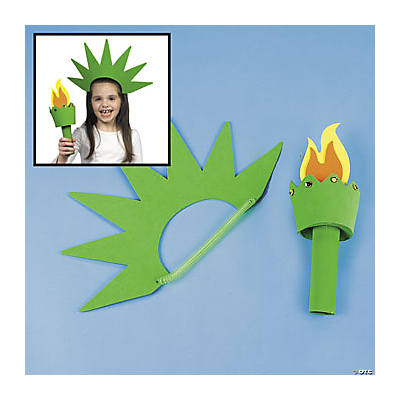 lady liberty hat torch craft kit oriental trading discontinued. Black Bedroom Furniture Sets. Home Design Ideas