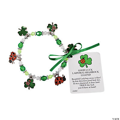 Ladybug Shamrock Charm Bracelet Craft Kit