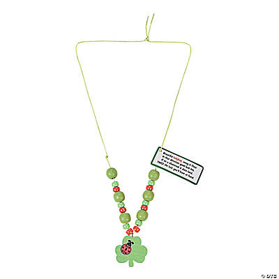 Ladybug Shamrock Necklace Craft Kit