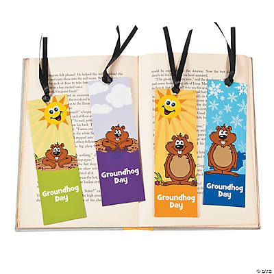 Laminated Groundhog Day Fact Bookmarks