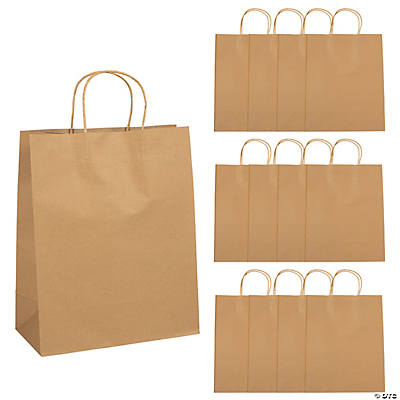 "Amazon.com: Craft Gift Bags ~ Brown Paper 1 dozen - 10"" x 5"" x 13 ..."