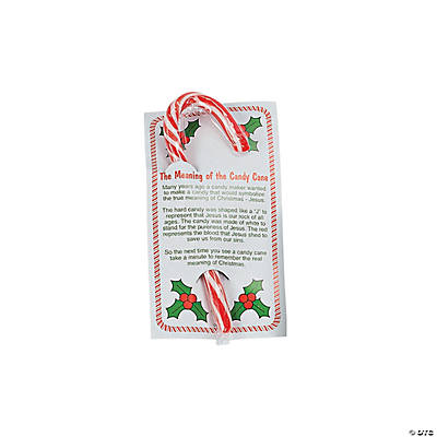 Large Candy Canes with A Religious Card