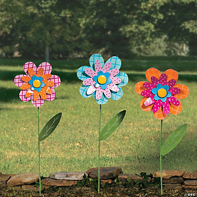 Large Flower Yard Stakes