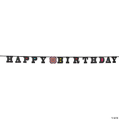 Large French Bull® Mod Birthday Paper Banner
