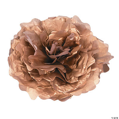 Large Gold Tissue Flower Decorations