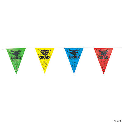 Large Graduation Pennant Banner