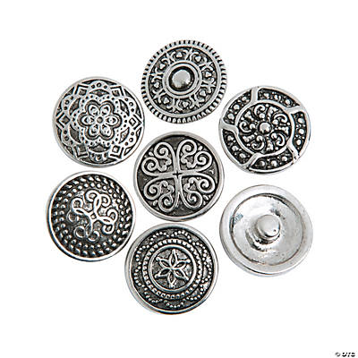 Large Intricate Design Snap Beads
