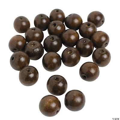Large Round Wood Beads - 24mm